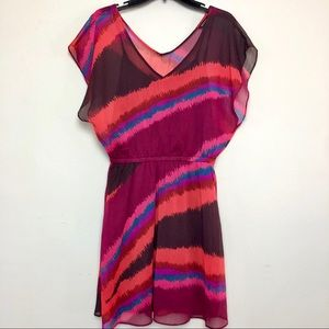 Express Multicolor Flowy Dress Size Medium